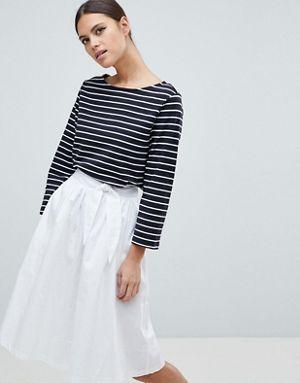 kaos distro stripe tee garis miniskirt