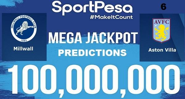 Sportpesatips - Millwall vs Aston Villa Predictions & H2H:: Sportpesa Mega Jackpot Predictions