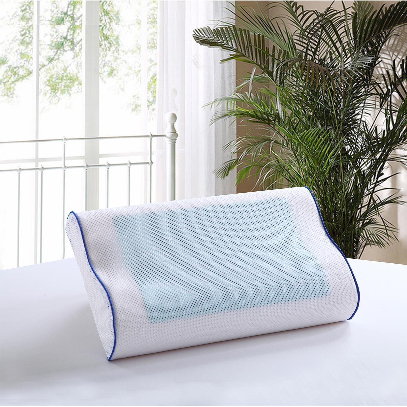 Memory Foam Contour Pillow Cool Gel Pad Orthopaedic Head