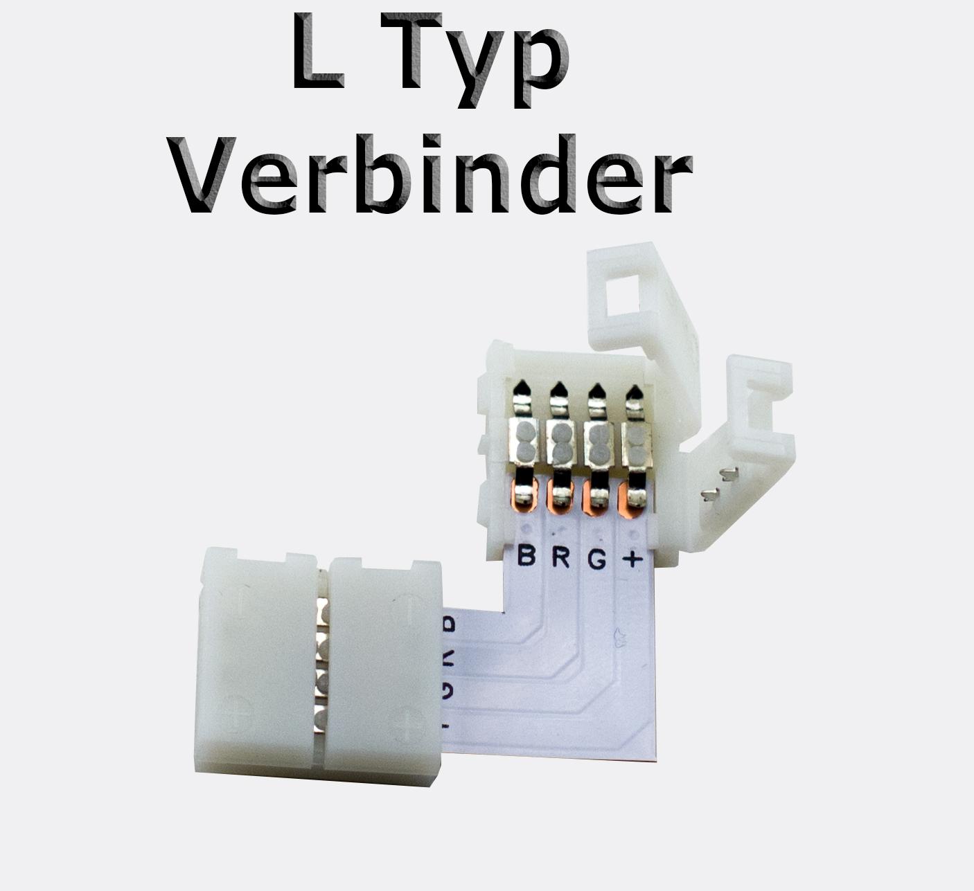 1 10 st ck l verbinder 4 pin 5050 led rgb eckverbinder. Black Bedroom Furniture Sets. Home Design Ideas
