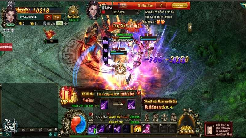 Vạn Kiếm tặng giftcode mừng game mở cửa chính thức