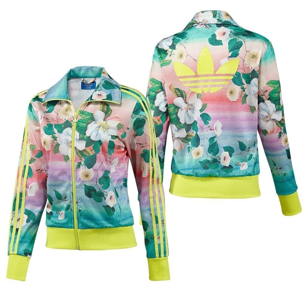 ee47cd75f02 Details about New Adidas Originals colorful summer Firebird Track Jacket  Floral hoodie F78107