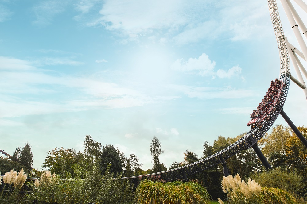 Stealth roller coaster at Thorpe Park