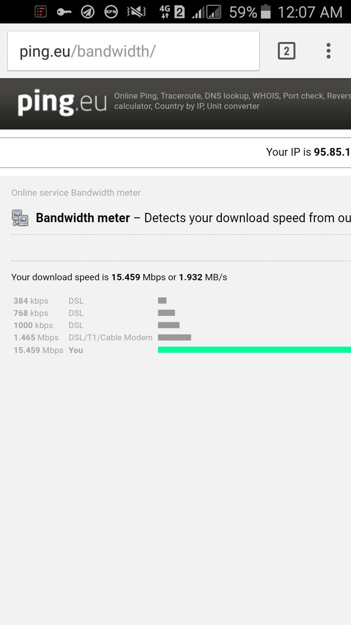 speed test kpn net