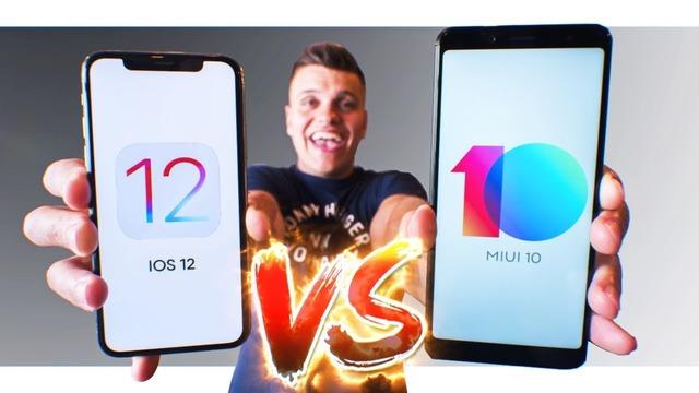 IOS 12 vs MIUI 10. Xiaomi за копейки VS Apple «за почку»