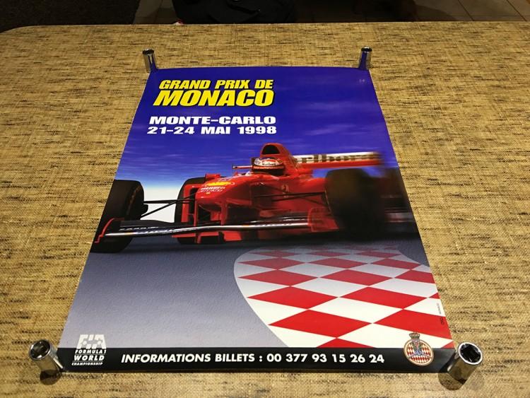 1998 F1 MONACO GRAND PRIX RACE POSTER