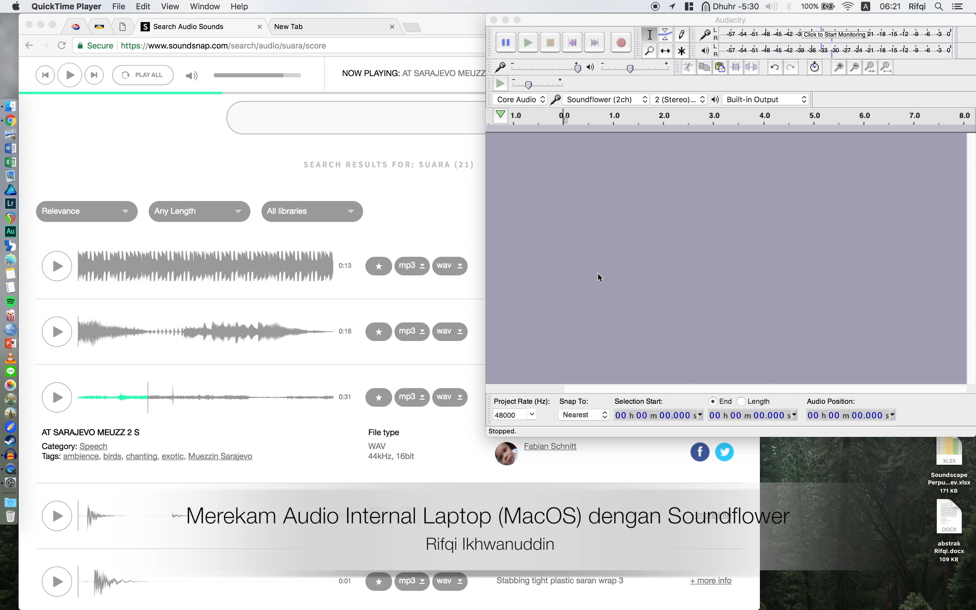 Merekam Audio Internal Laptop MacOS dengan Soundflower