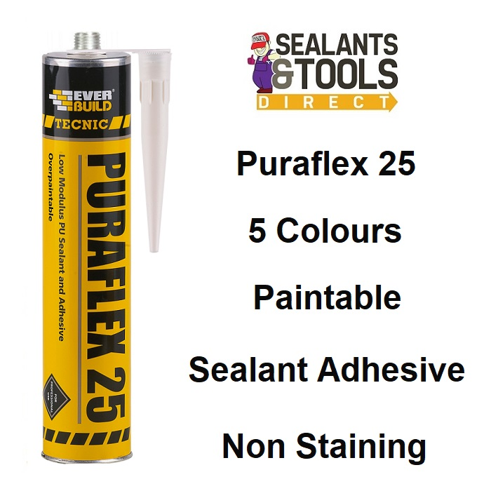 Everbuild Tecnic Puraflex 25 Polyurethane Coloured Sealant C3