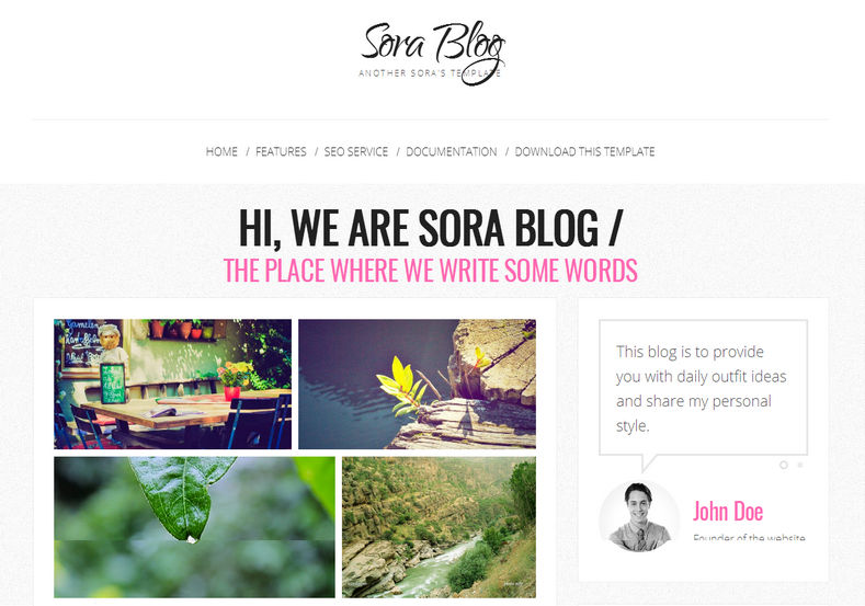 Sora_Blog_Responsive_Blogger_Templates